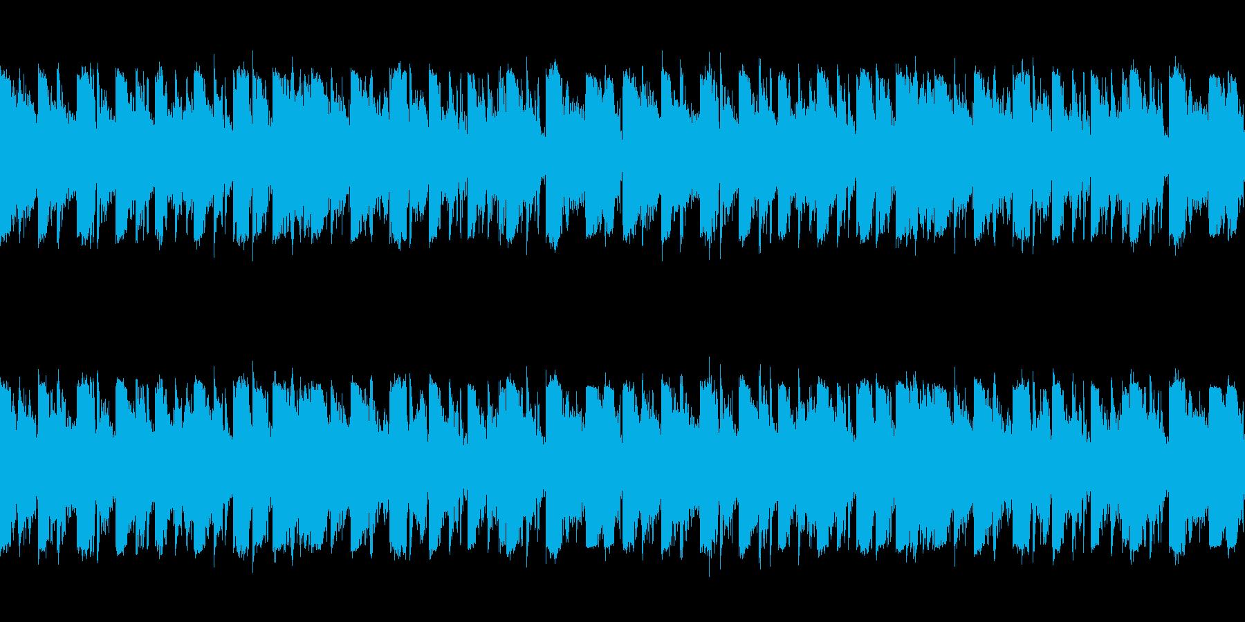 「クセのないデジタルダンスLoop曲」の再生済みの波形