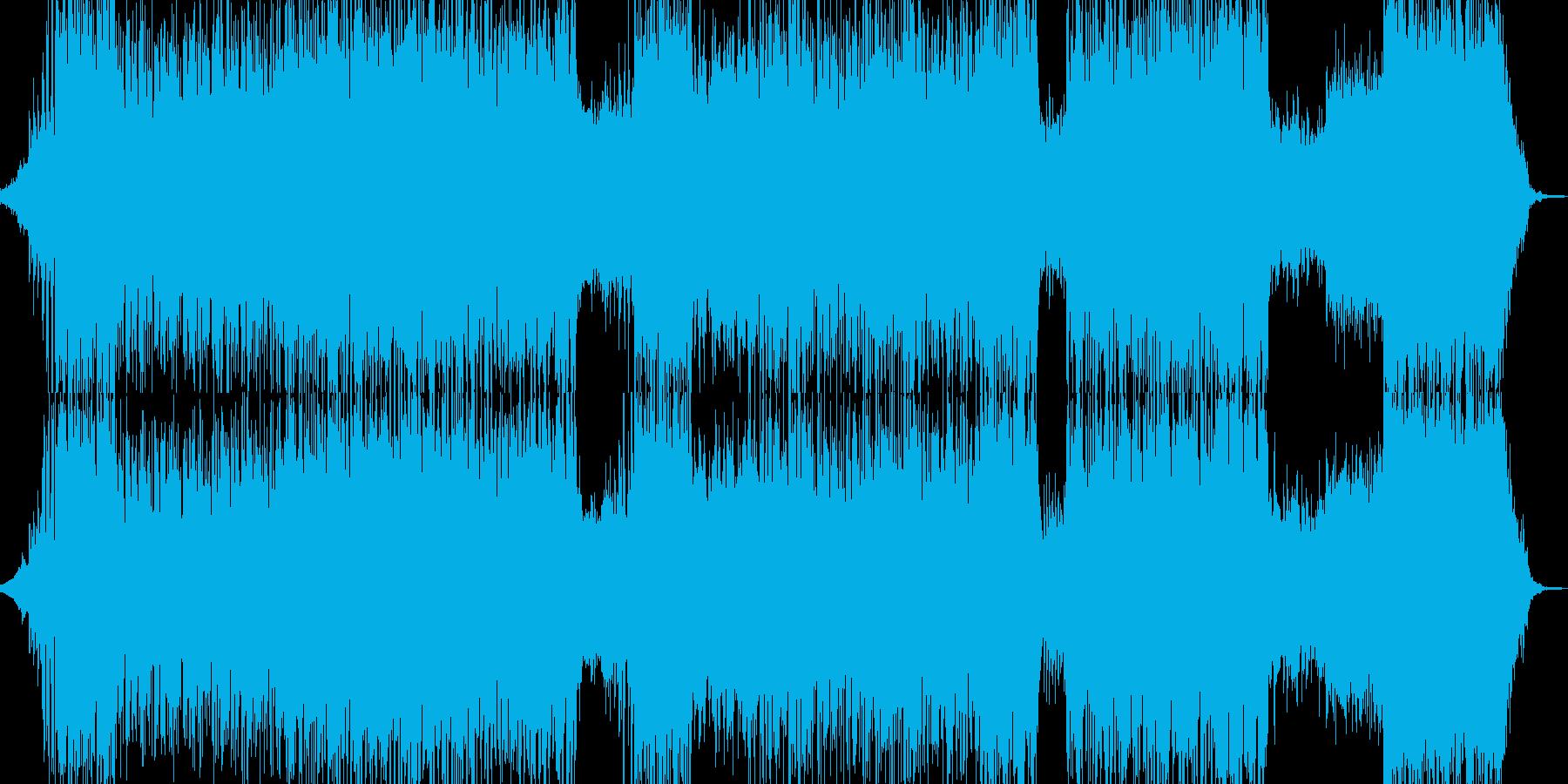 自然 疾走感ある雰囲気に適したBGMの再生済みの波形