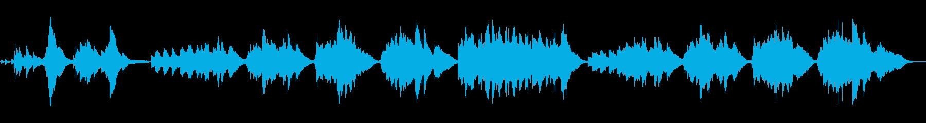 神秘的で物悲しい曲「ソルヴェイグの歌」の再生済みの波形