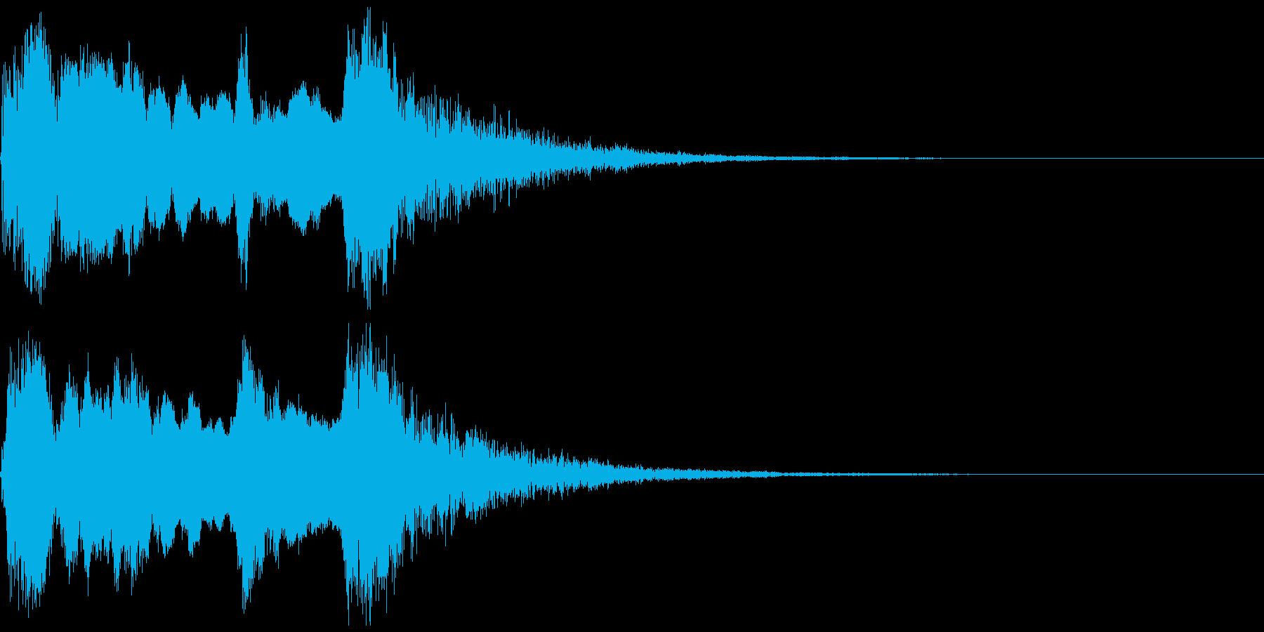 和楽器の純和風な短いジングル。篠笛verの再生済みの波形