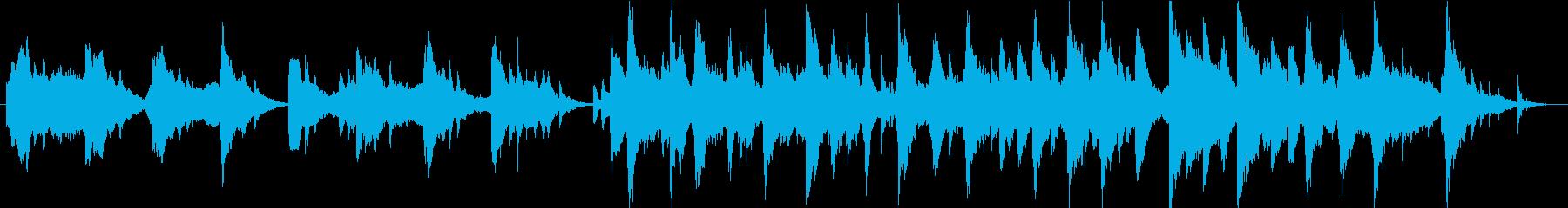 神秘的な和風BGMの再生済みの波形