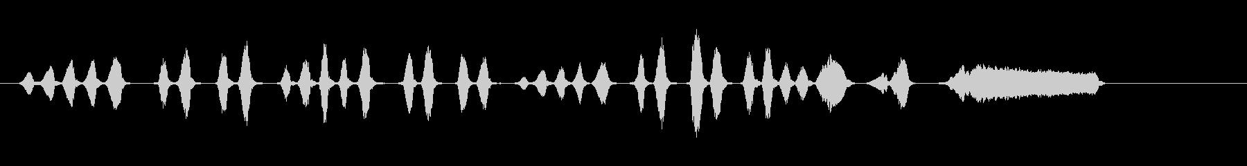 口のオルガン、ワルツのメロディーの未再生の波形