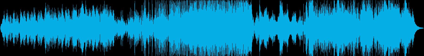 民族系声素材使用。妖しいダンス曲の再生済みの波形