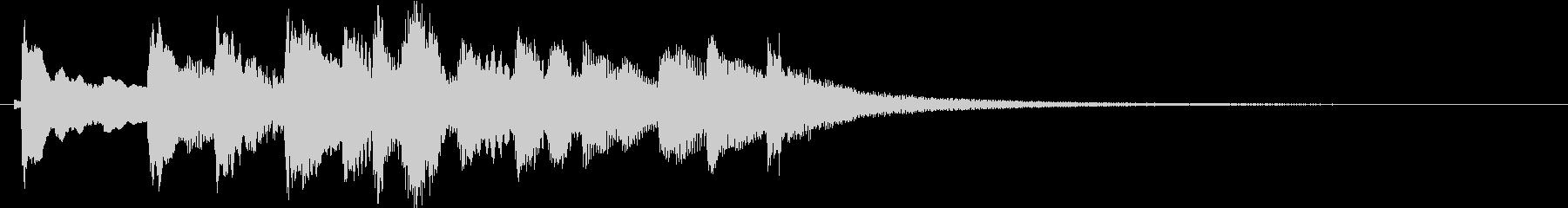 和風 シンプルな琴のジングル1の未再生の波形