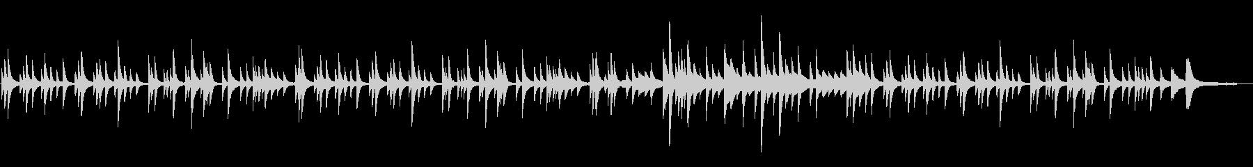 ノスタルジックで切ない和風ピアノバラードの未再生の波形