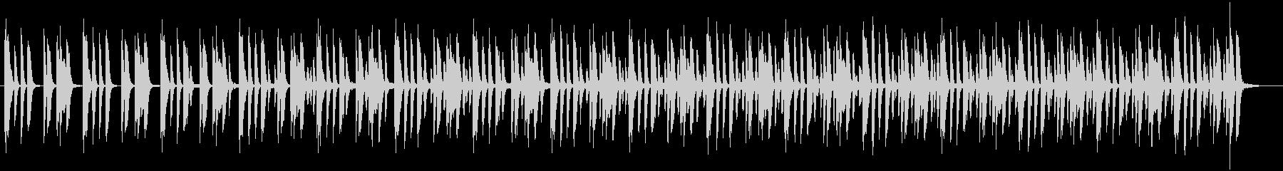 日常会話シーン・ピアノの未再生の波形
