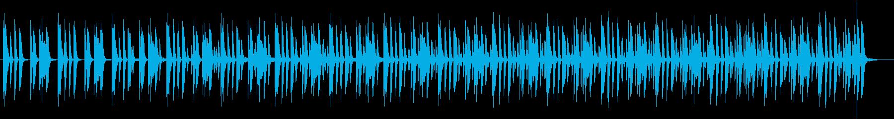 日常会話シーン・ピアノの再生済みの波形