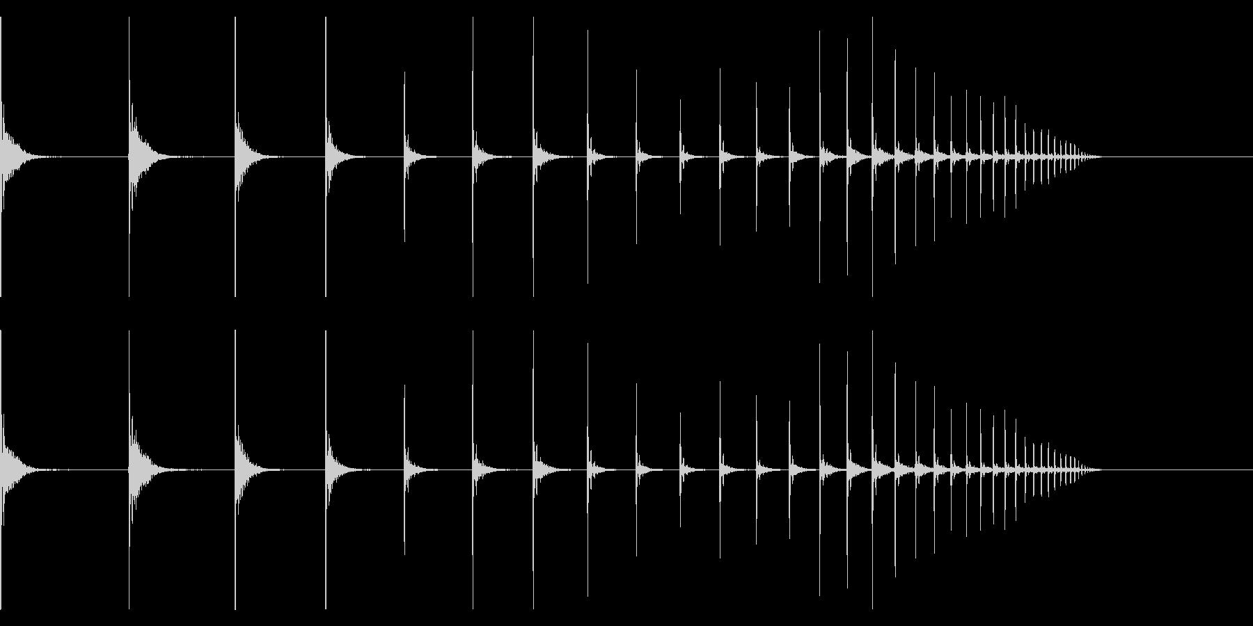【生録音】卓球の球が跳ねる音 6 転がるの未再生の波形