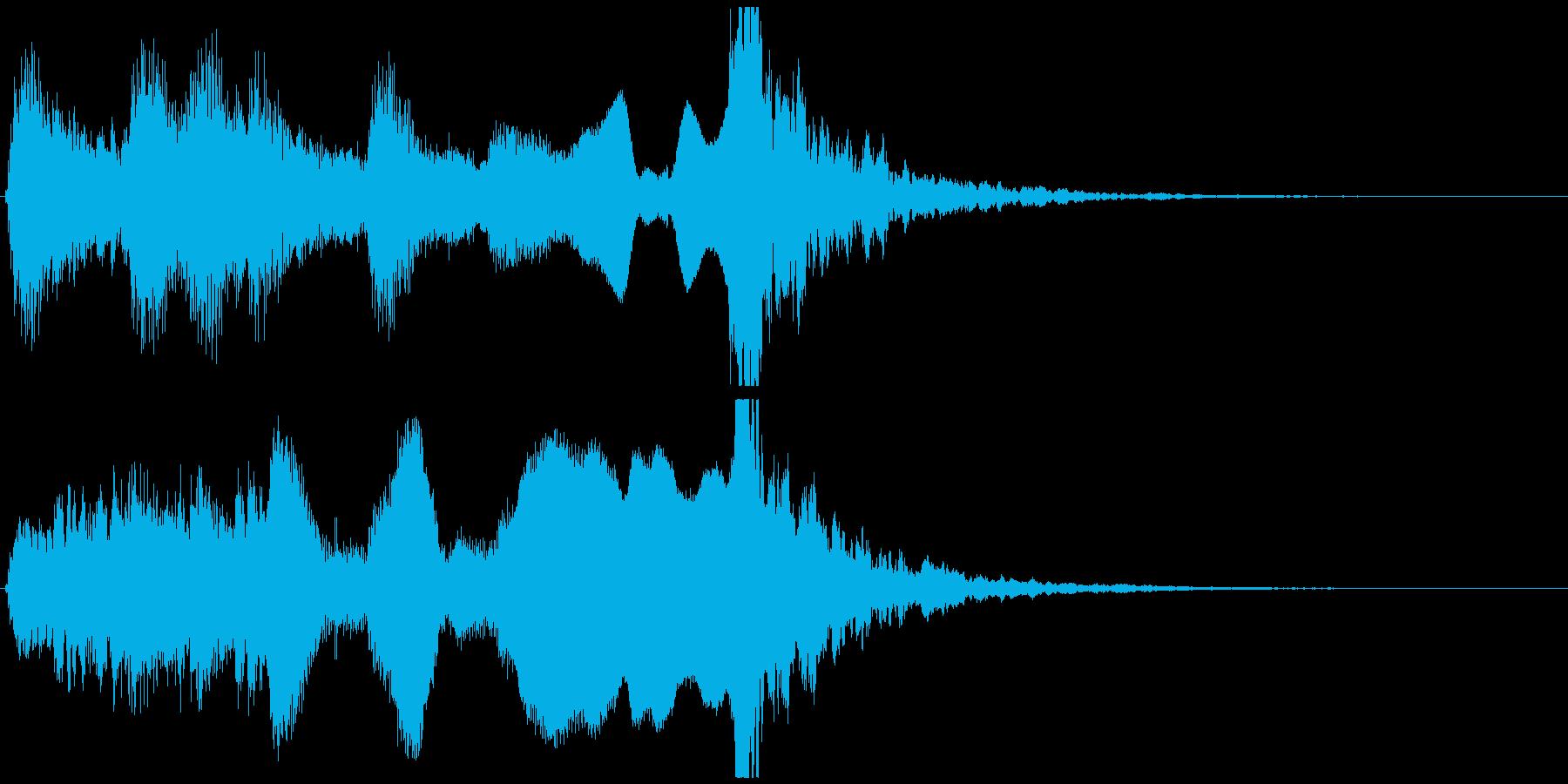 尺八と小鼓ポンッ!の短いジングルの再生済みの波形