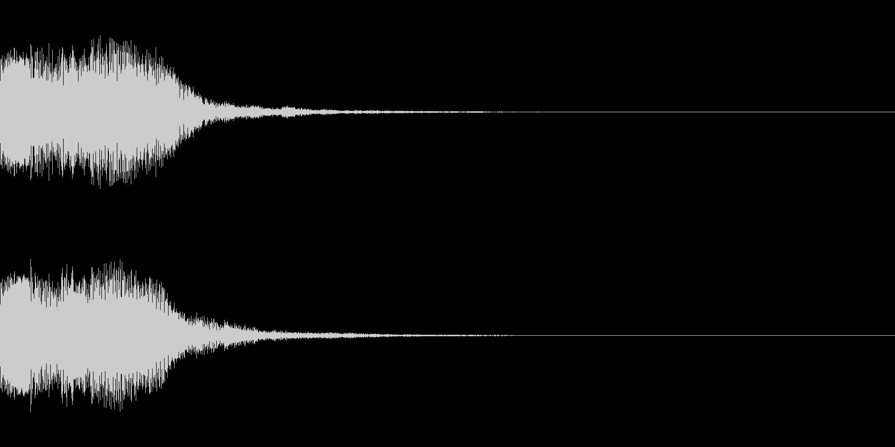 シンセサイザー 決定音ゲームスタート4の未再生の波形
