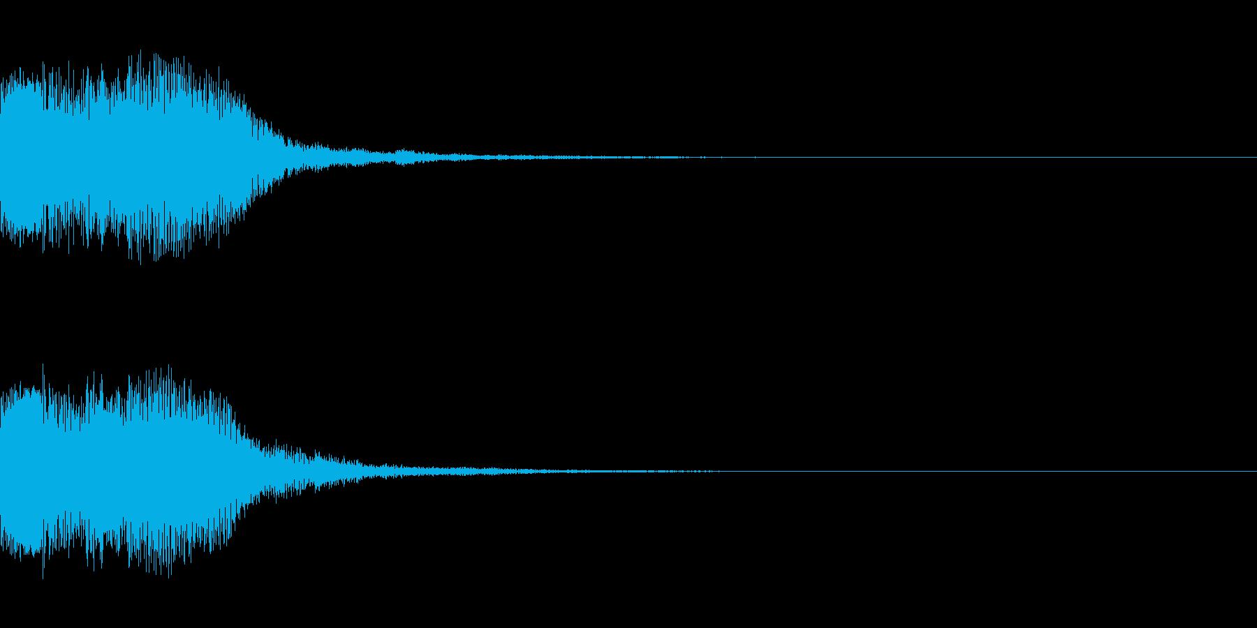 シンセサイザー 決定音ゲームスタート4の再生済みの波形