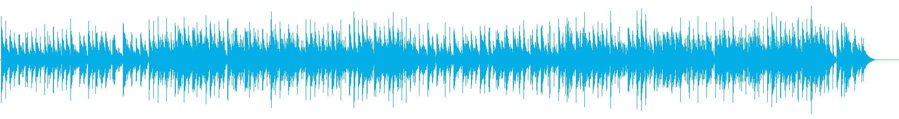 ほのぼの、のどかな雰囲気のカントリーの再生済みの波形