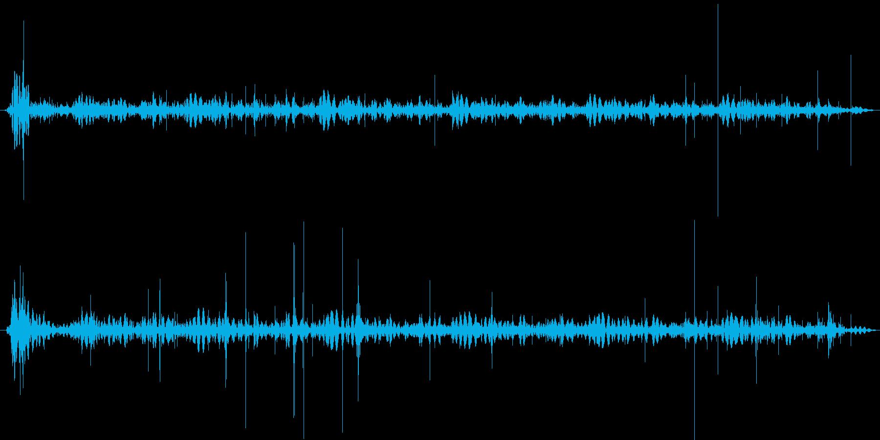 レコードノイズ(チリチリ)の再生済みの波形
