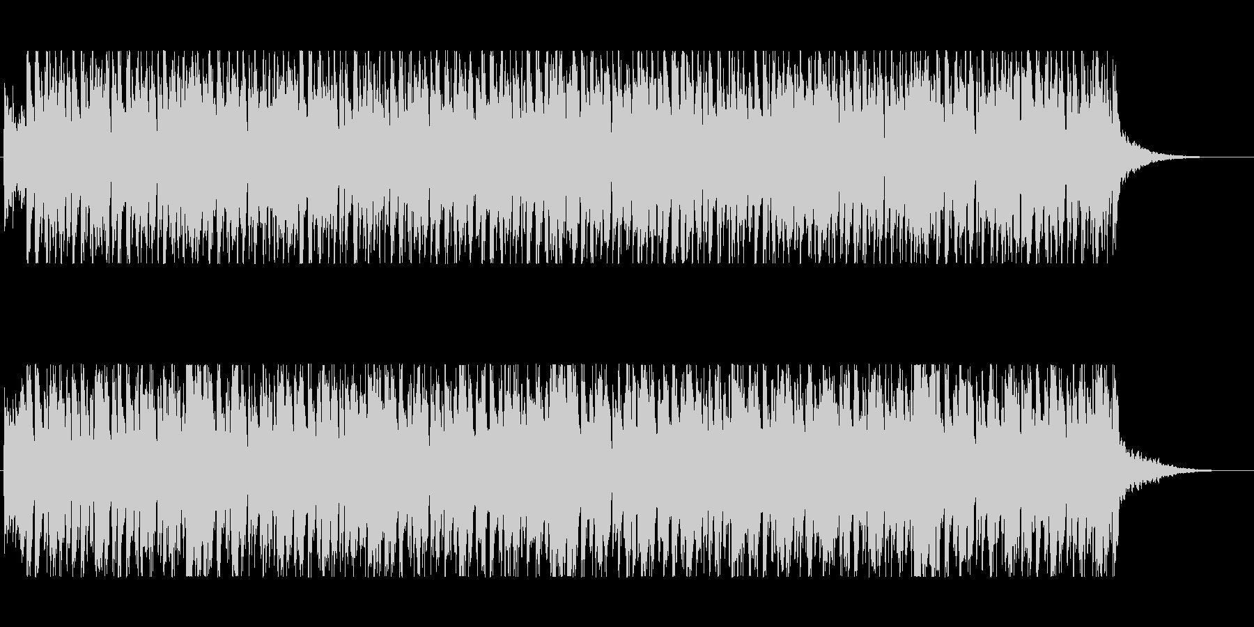 ギターカッティングが心地いいBGMの未再生の波形
