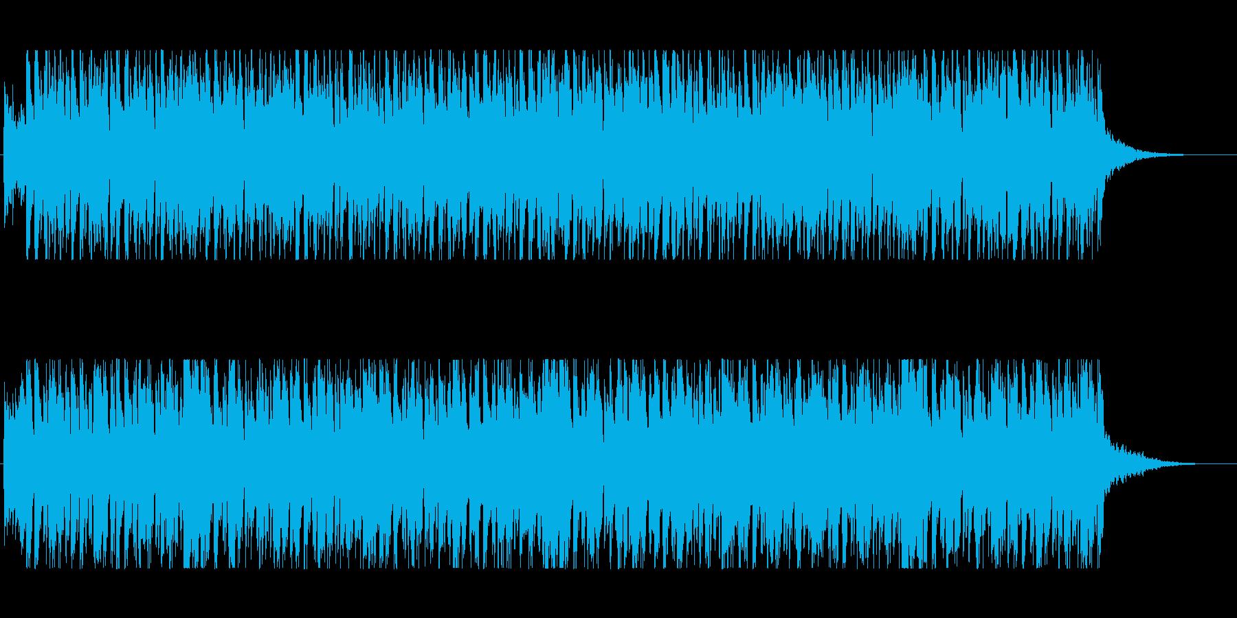 ギターカッティングが心地いいBGMの再生済みの波形