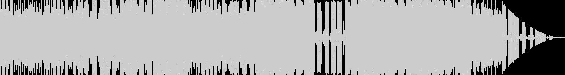 パーカッションで奏でるエレクトロニカの未再生の波形