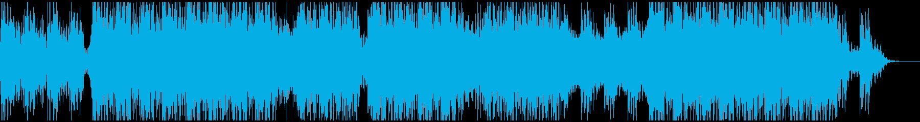 明るく楽観的な電子サウンドの再生済みの波形
