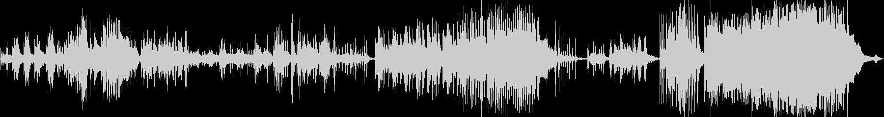 ゆったりとした雰囲気のピアノ曲の未再生の波形