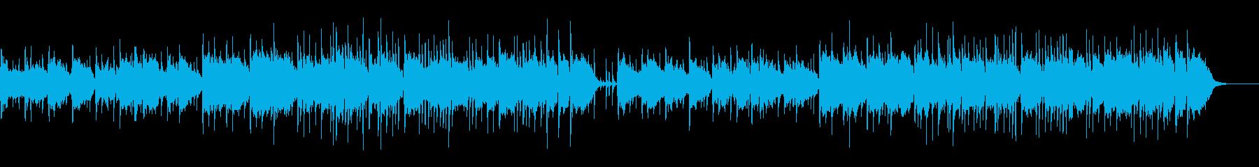 中国風のBGMでゆったりとした明るいポ…の再生済みの波形