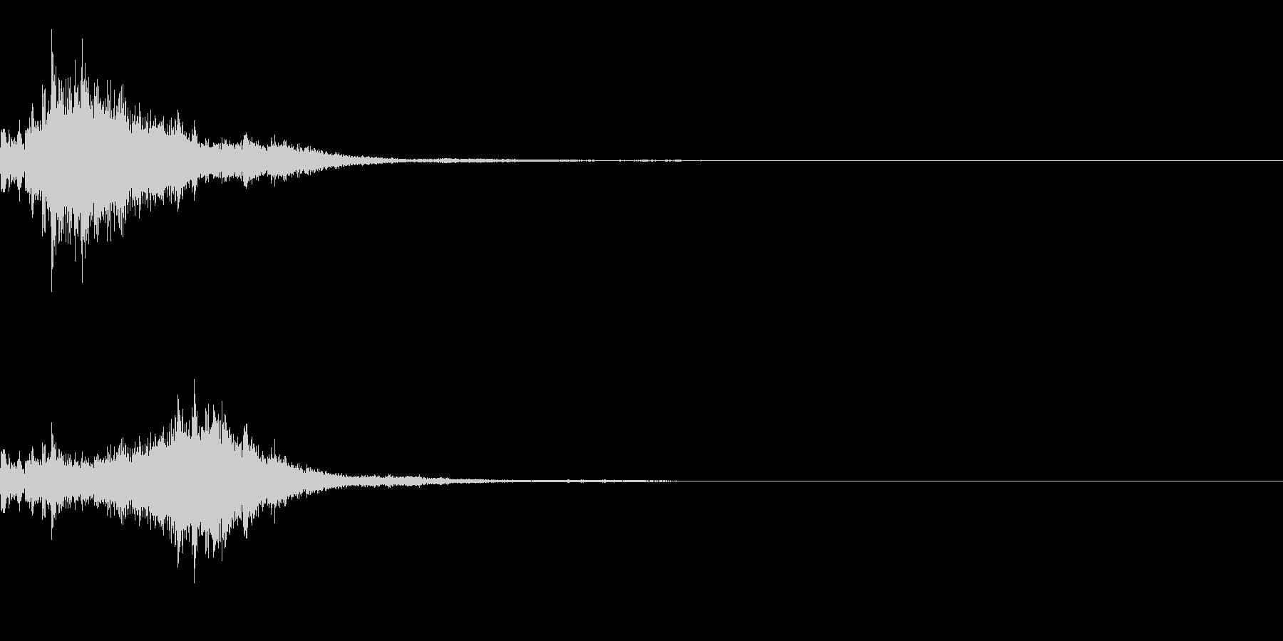 [効果音]キラキラ、着信音の未再生の波形