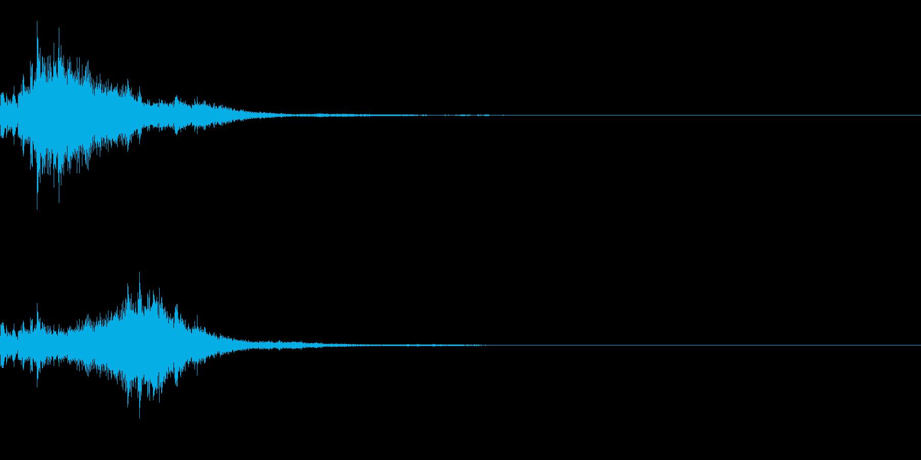 [効果音]キラキラ、着信音の再生済みの波形