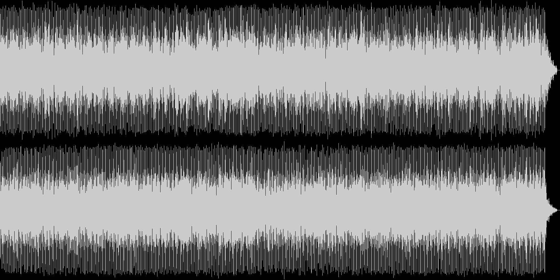軽やかなテクノポップスの未再生の波形