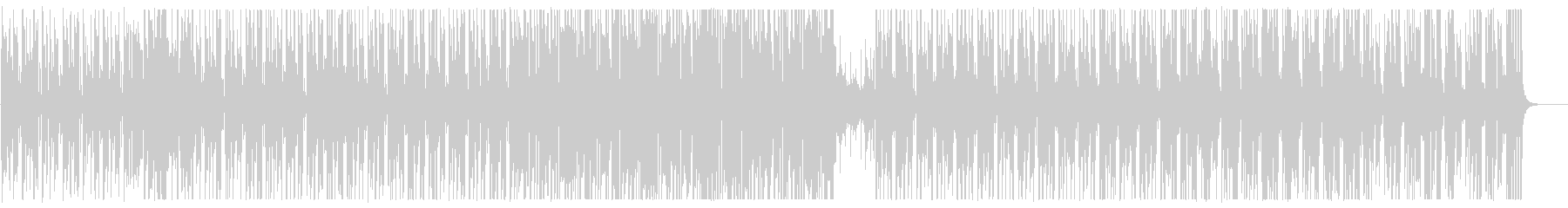 A slow xylophone synthesizer song's unreproduced waveform