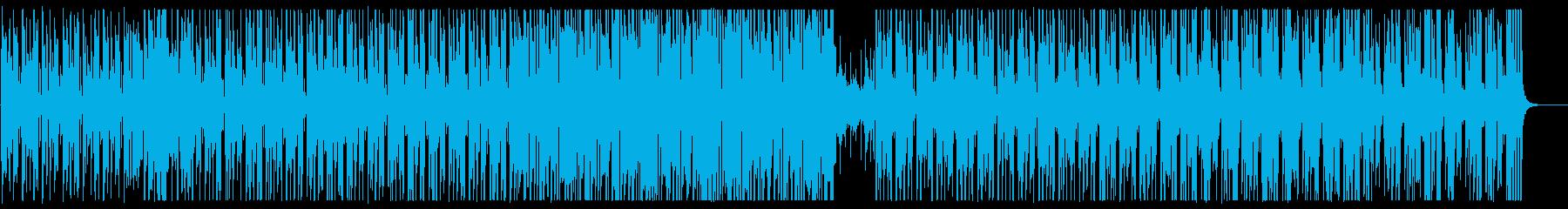 ゆっくりした木琴系のシンセサイザーの曲の再生済みの波形