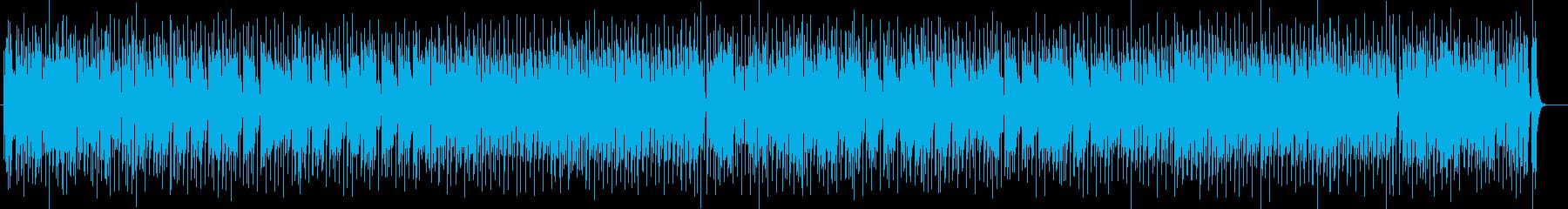 爽快感のあるドラムシンセサイザー系曲の再生済みの波形