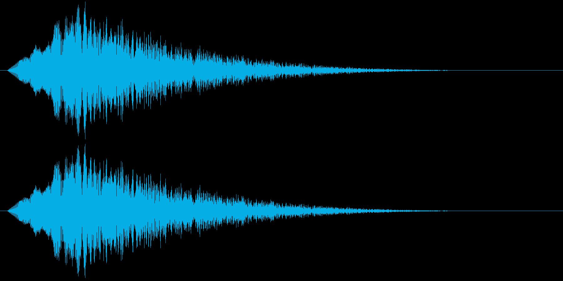 ぽわわーん_?マークが出る時のイメージ音の再生済みの波形