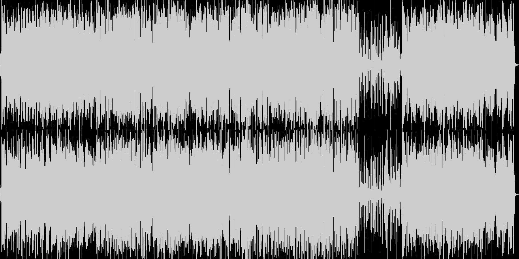 さわやかなで軽快なピアノトリオの未再生の波形