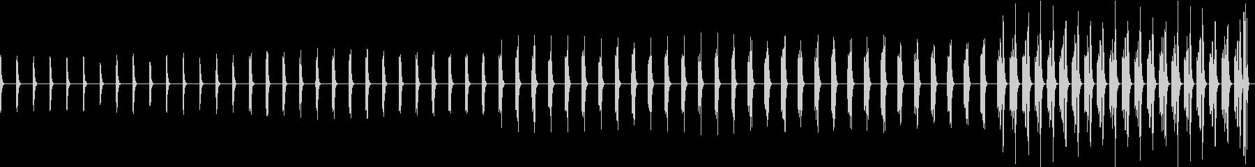 1分ごとに音が変わる5分のアラームの未再生の波形