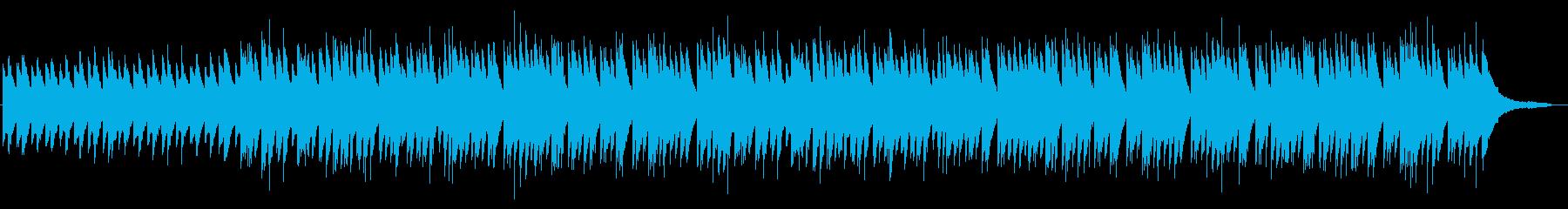 夜をイメージしたゆったりしたピアノ曲の再生済みの波形