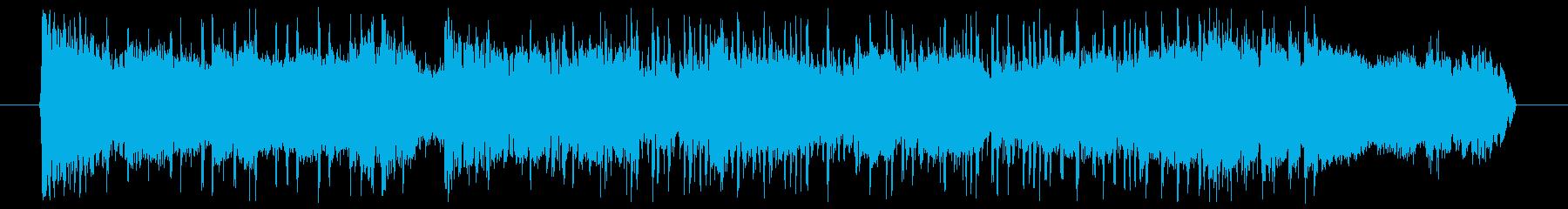 攻め攻めファンキーギターバンドサウンドの再生済みの波形