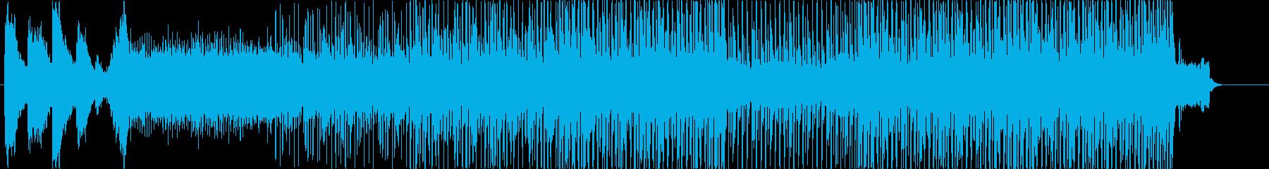 ピアノで始まるムーディーなハウス風BGMの再生済みの波形