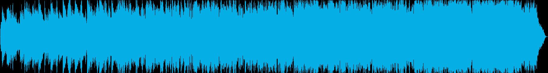 爽やかな笛とシンセサイザーの癒しの音楽の再生済みの波形