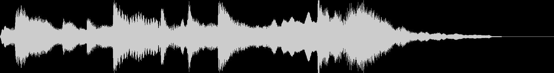 雅で古風な和風ジングル(琴、尺八、鼓)の未再生の波形