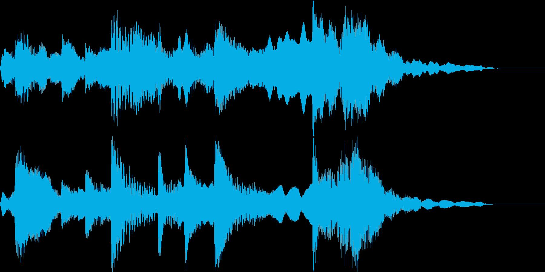 雅で古風な和風ジングル(琴、尺八、鼓)の再生済みの波形