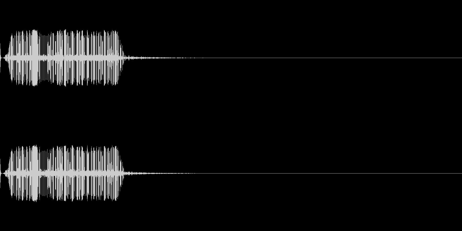 モジュールシンセサイザー ノイズ3 の未再生の波形