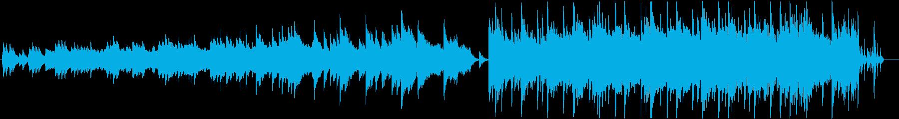 絶望的な悲しみのあるピアノバラードの再生済みの波形