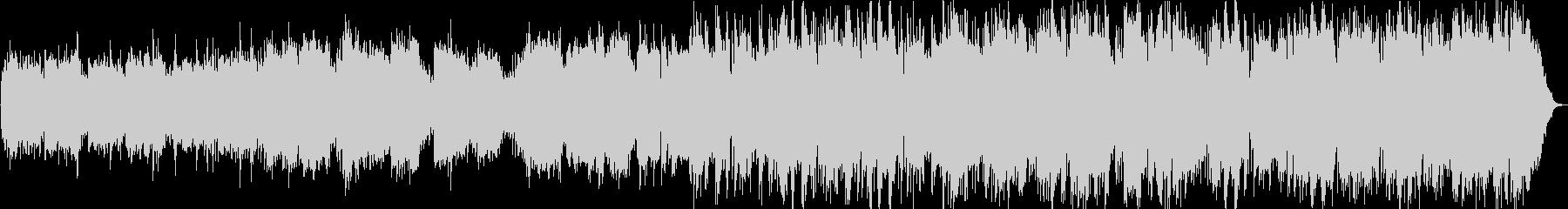 鐘の音と生演奏の笛の長閑なヒーリング音楽の未再生の波形
