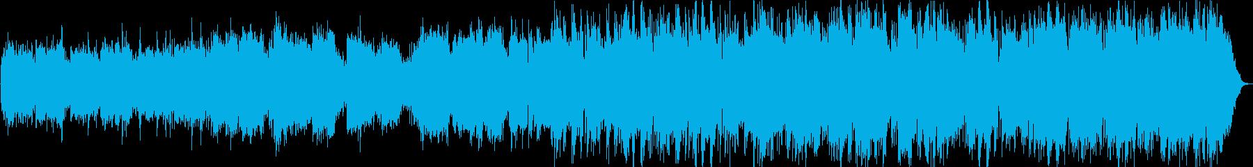 鐘の音と生演奏の笛の長閑なヒーリング音楽の再生済みの波形