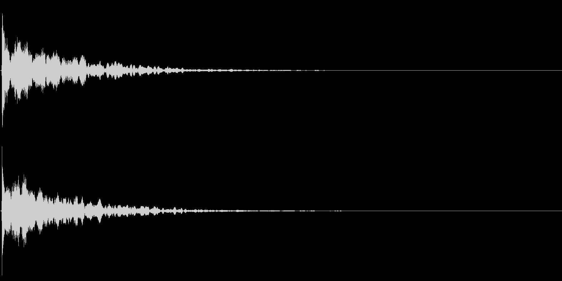 ゲームスタート、決定、ボタン音-005の未再生の波形