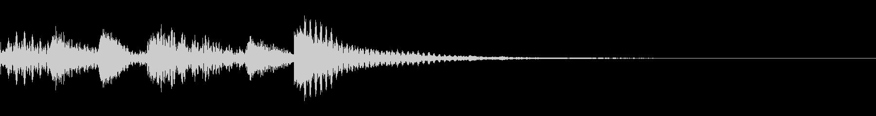 マリンバ 企業のサウンドロゴの未再生の波形