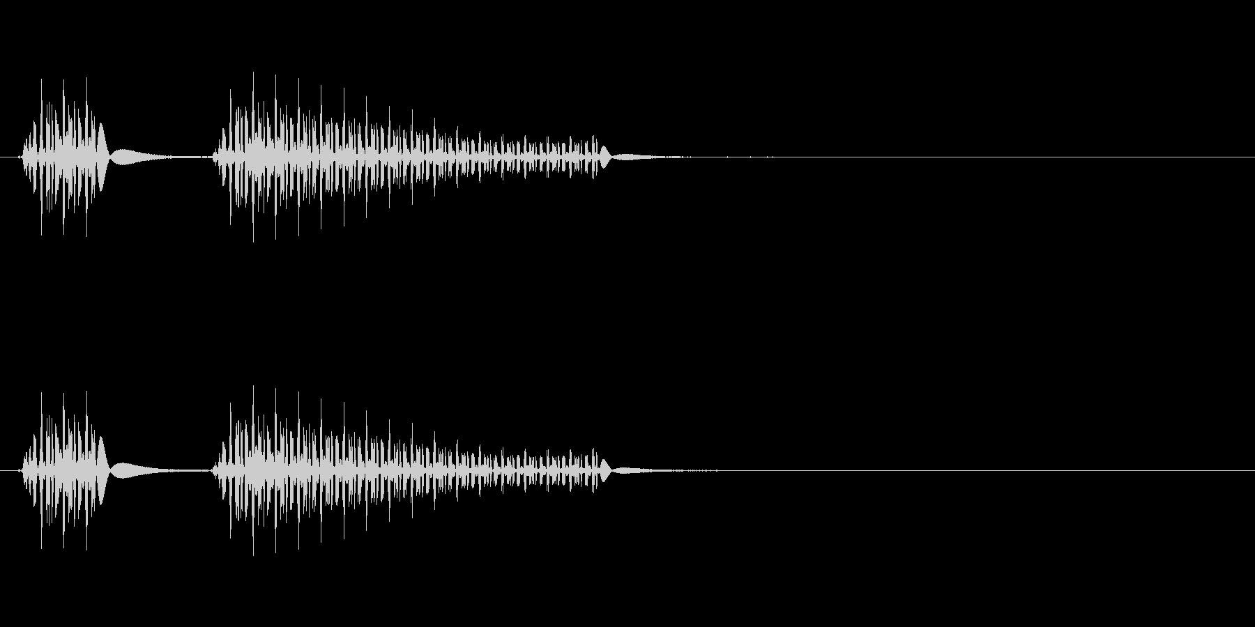 不正解 × ブッブーの未再生の波形