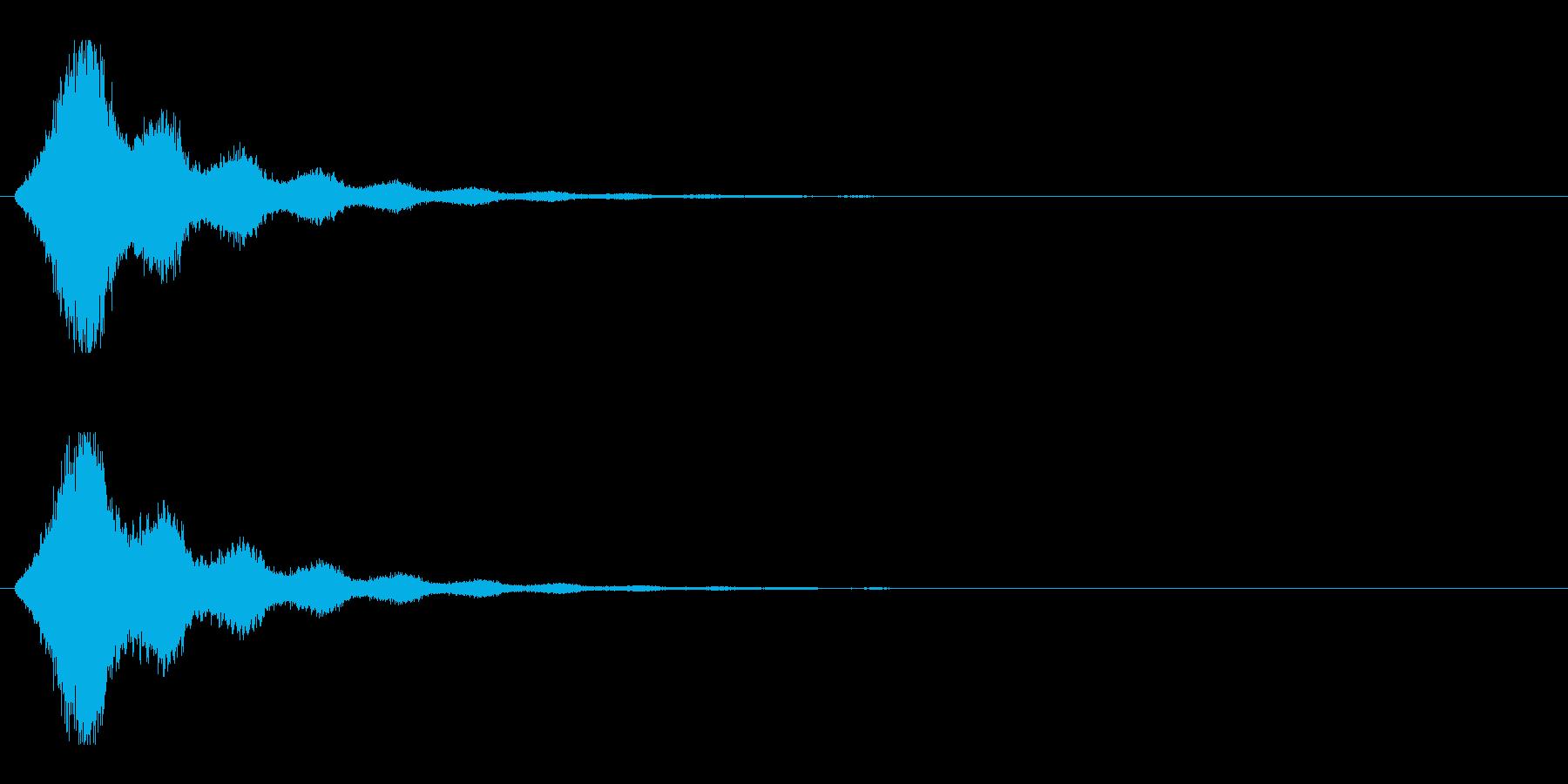レーザー音-158-2の再生済みの波形