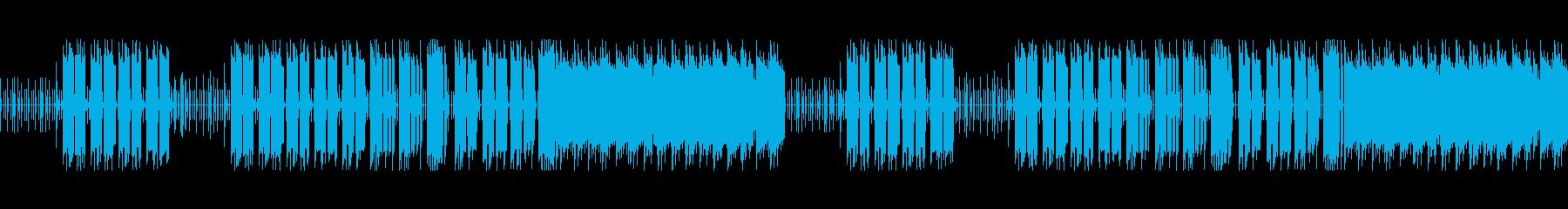 ゆったりとしたリズムのチップチューンの再生済みの波形