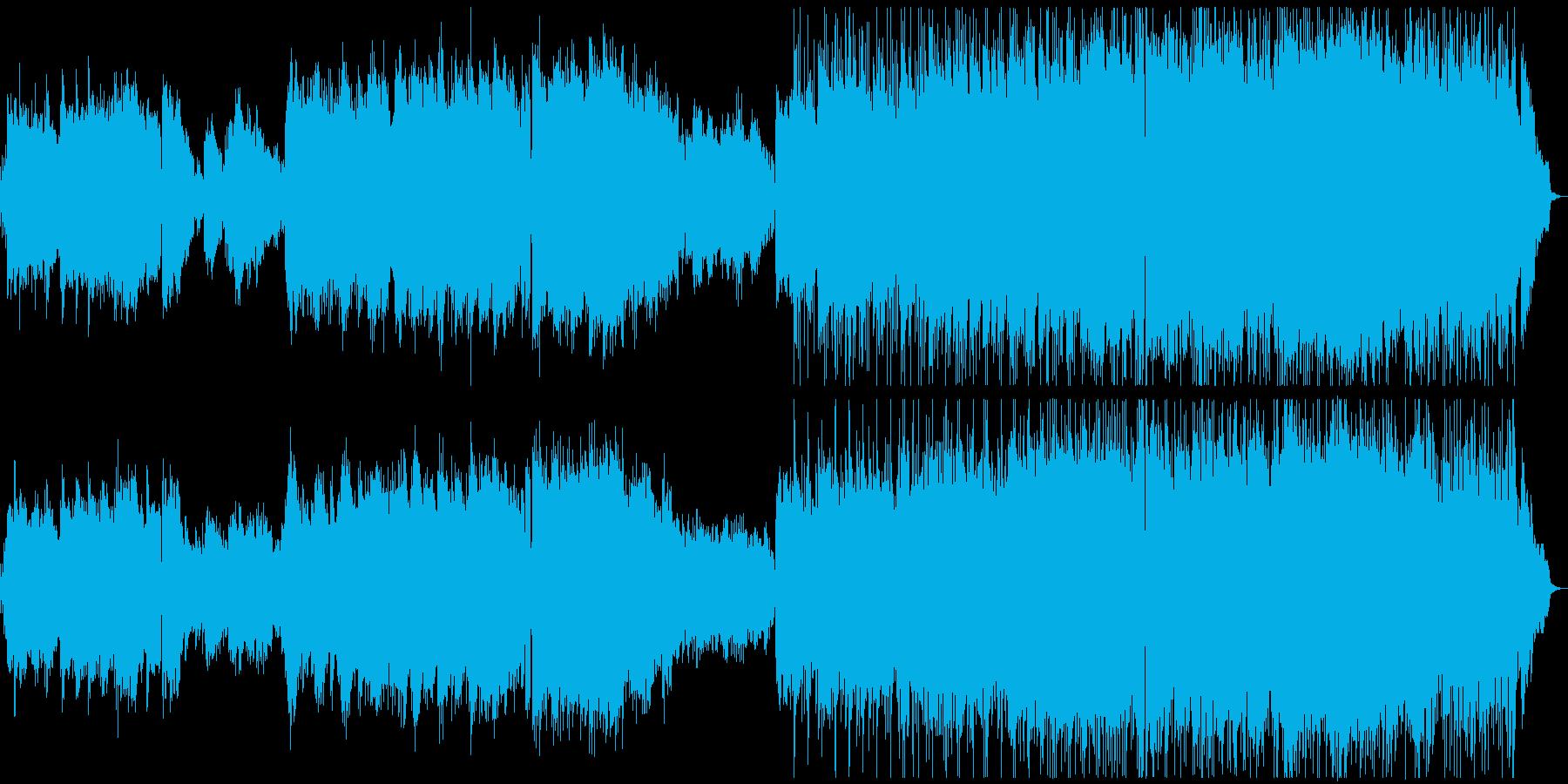 広がりの感じられるJpopバラードの再生済みの波形