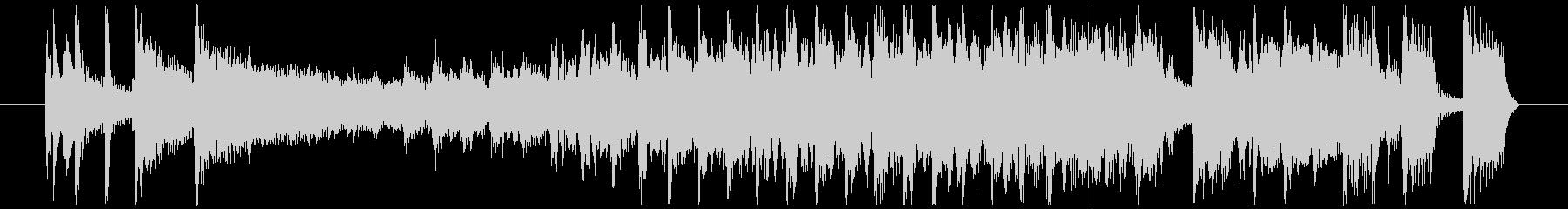 ワイルドなブルージーロックBGM 12秒の未再生の波形