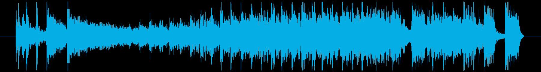 ワイルドなブルージーロックBGM 12秒の再生済みの波形